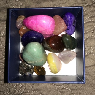 Box Of Rocks! Polished Stones for Jewelry Necklaces Charms