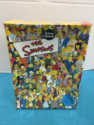 L629 SIMPSONS TRIVIA GAME 2001 CARDINAL BOX EDITION SEALED