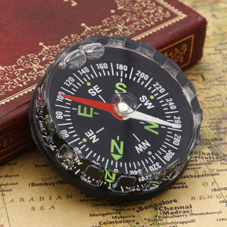 Mini Pocket Survival Liquid Filled Button Compass for Hiking Camping Outdoor New