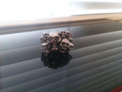 Metal Skulls Adjustable Ring