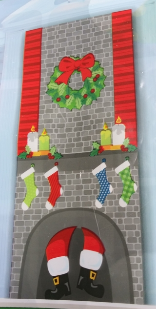 CHRISTMAS DOOR COVER DECORATION 30 INCHES X 72 INCHES LOT 6