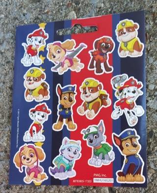 PAW PATROL STICKERS 3 SHEETS