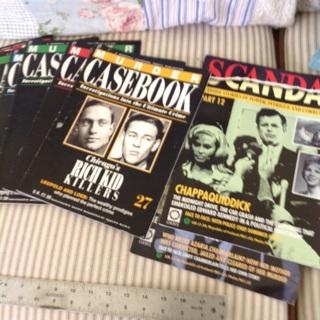 7 Murder Casebooks & 2 Scandal magazines