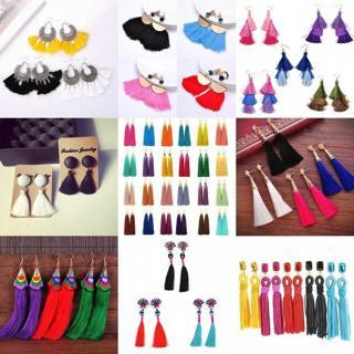 Fashion Vintage Women Bohemian Fringe Boho Long Tassel Hook Drop Dangle Earrings