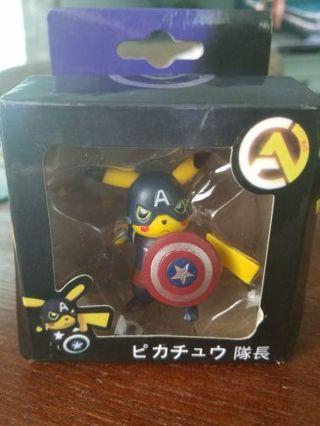 Pokemon Pikachu Cos Play Captain America (READ)