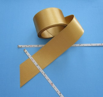"""60 INCHES (5 FEET) of BEAUTIFUL """"GOLD"""" RIBBON (NEW) !!! ~ FREE SHIPPING FROM CANADA !!"""