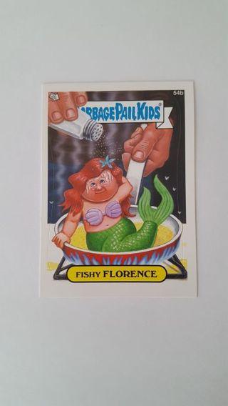 2012 Garbage Pail Kids Card# 54b • FISHY FLORENCE • See all Photos