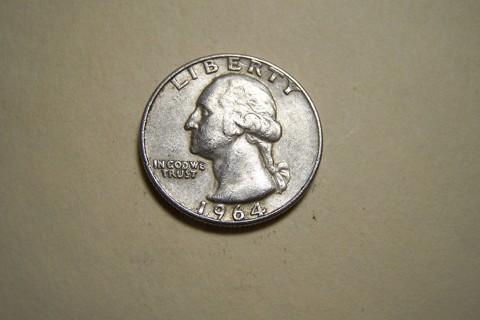 Silver 1964-D Washington Quarter