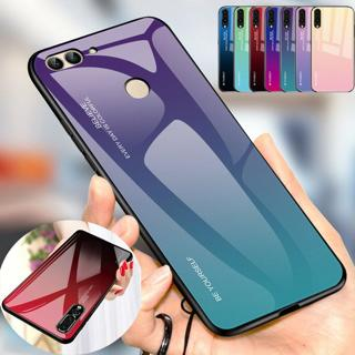 Gradient Tempered Glass Case Back Cover For Huawei Mate 20 10 Lite P20 Pro 8X