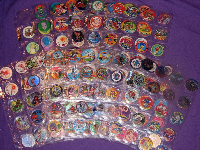 Free massive vintage collection of pogs bottle cap tops for Cool bottle cap designs