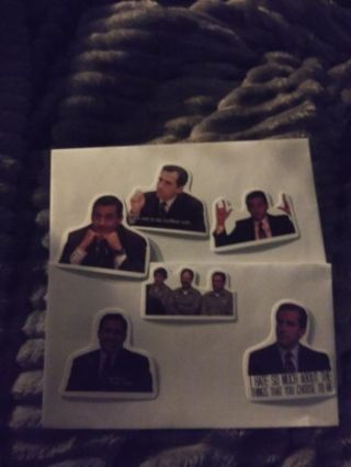 """6 stickers of """"michael gary Scott"""" from the super popular show the office. ***NEW LOWER PRICE***"""