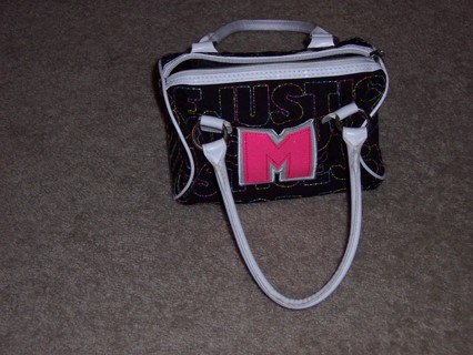 Free Justice Mini Duffel Bag Purse With Letter M On It