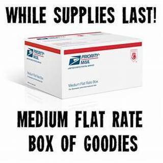 Medium flat rate box full of items