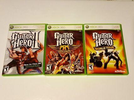 Free: 3 Guitar Hero Xbox 360 games - Xbox Games - Listia com