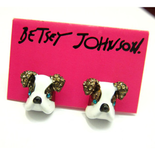 Free Betsey Johnson Crystal Dog Stud Puppy Doggie