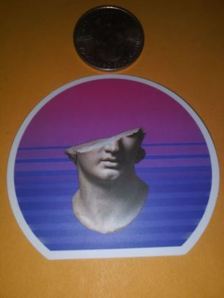 Cool thick quality vinyl sticker no refunds regular mail only Very nice