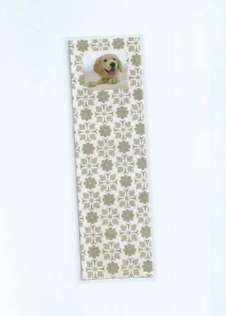 Happy Dog XL Laminated Bookmark
