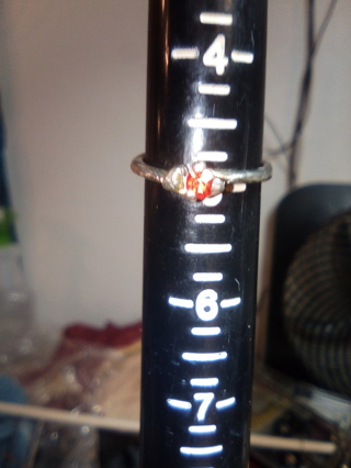 Ring with red Stone size 5