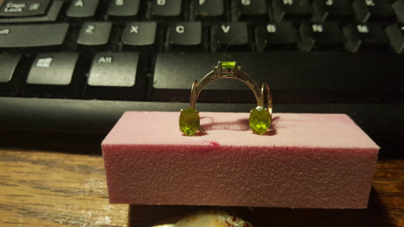 peridots! 10k GOLD and sterling silver