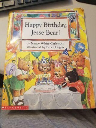 Happy Birthday Jesse Bear! Softcover Book