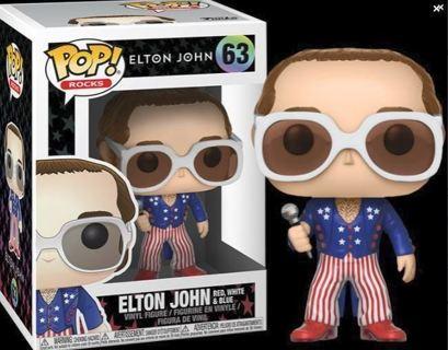 NEW Funko Pop Elton John Red White Blue Collectible Figure Vinyl FREE SHIPPING
