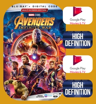 Avengers: Infinity War HD GOOGLE PLAY ( PORTS IF ACCOUNTS ARE LINKED)