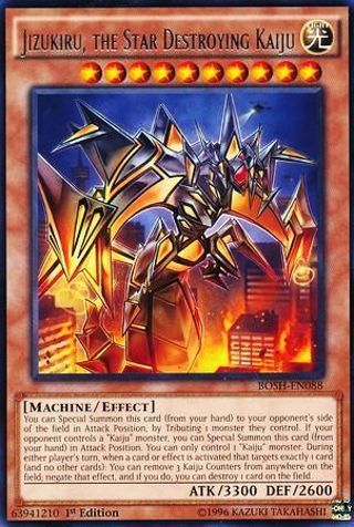 Jizukiru, the Star Destroying Kaiju - BOSH-EN088 - Rare 1st Edition Breakers of Shadow Single