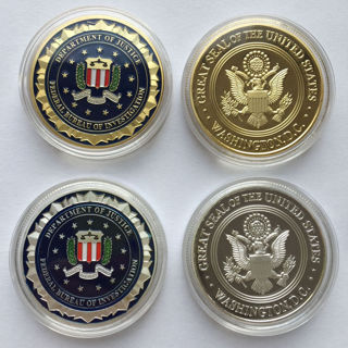 American Federal Bureau of Investigation FBI Washington DC EAGLE Challenge Coin