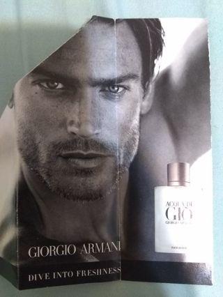 Giorgio Armani Mens sample Acqua Di Giorgio Pour Homme