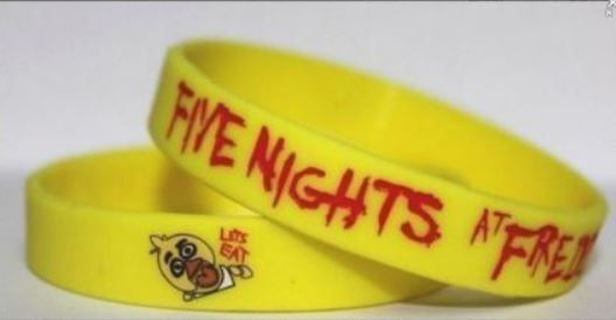 NEW Five Nights at Freddy's Wrist Band CHICA bracelet wristband Video Game Style Accessories