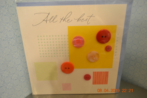 ****NIP BEAUTIFUL BUTTONS BIRTHDAY CARD W/ENVELOPE***FREE SHIPPING
