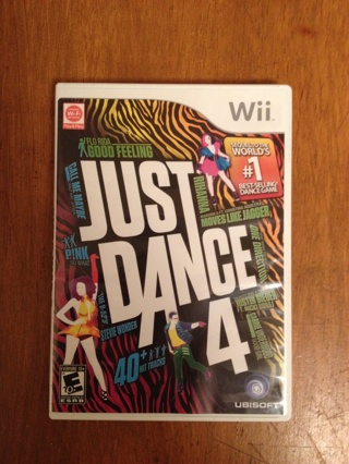 Just Dance 4 for Nintendo Wii!!!!! FREE SHIPPING