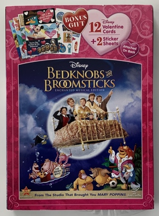 Disney Bedknobs and Broomsticks Enchanted Musical Edition DVD Movie w/ Slipcover - Partially Sealed!