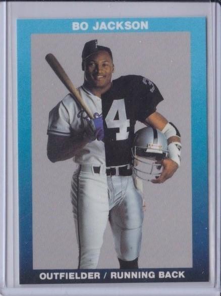 Free Bo Jackson Baseballfootball Card Rare Low Gin