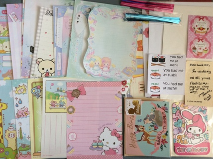 Kawaii Cleanup Items from My Desk - Large Memo Sheets Envelopes 3D Cards Gift Ties & More