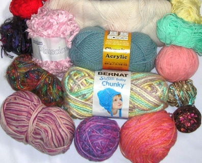 HUGE LOT of YARN for KNITTING / CROCHETING Journaling or OTHER Decorative CRAFTS Over 50 oz.