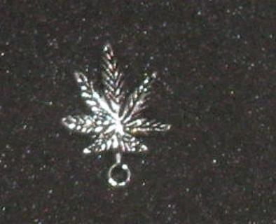 Pot Leaf silver Charm