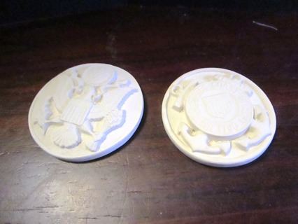 Unfinished Ceramic Pieces - 2 Military Medalions