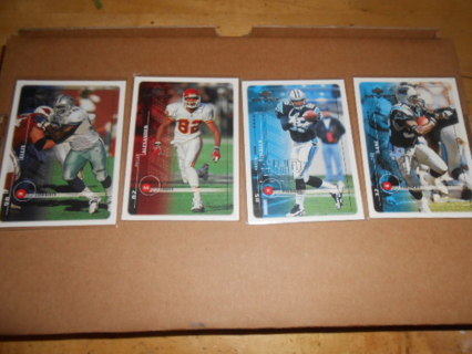 Lot of 4 UD MVP Football Cards