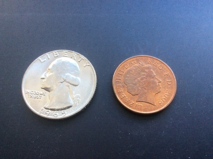 2008 one (1) penny coin from Great Britain or United Kingdom