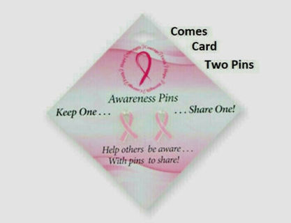 breast cancer awareness 2 pins you and friend support cause pink ribbon NWT