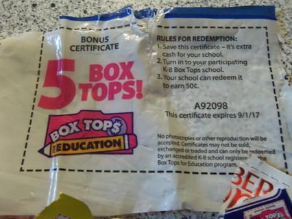 40 + 5 Bonus Box Tops For Schools