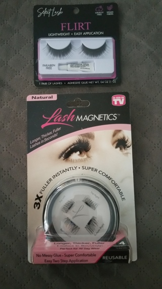 BNIP AS SEEN ON TV Natural Lash Magnetics Kit and a Select Lash Pair of Lashes w/Adhesive Glue /