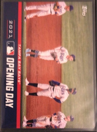 2021 Topps Opening Day T.B. Rays Card #OD-3