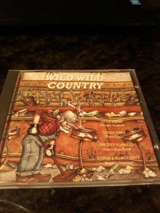 used cd-wild wild country-1991-waylon jennings-steve earle&more!look!