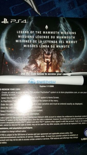 Free Far Cry Primal Legend Of The Mammoth Missions Dlc Sony Playstation Ps4 Psn Video Game Prepaid Cards Codes Listia Com Auctions For Free Stuff