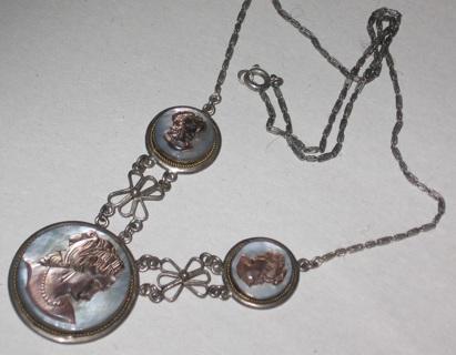 vintage cameo necklace