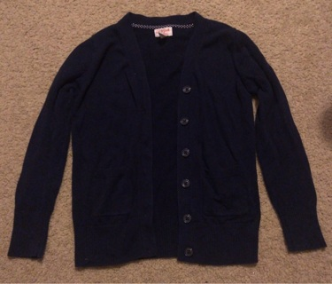 Cat & Jack - Girls Size 7 8 - Navy Blue Uniform Sweater - LIKE NEW