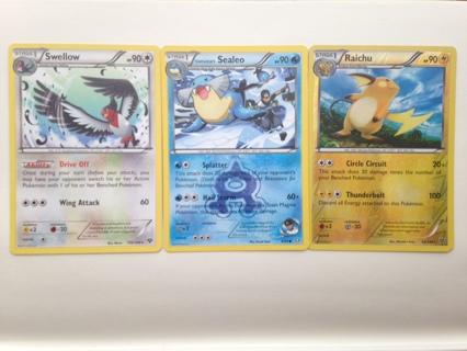 Pokemon Cards - 1 rare, 1 rev holo/rare