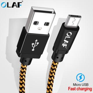 Olaf Braid Micro USB cable 25cm 1m 2m 3m 5V/2A charging for Samsung Xiaomi  Fast charging for mobi